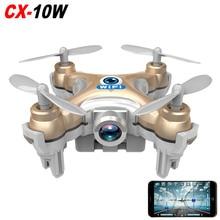 2016 Cheerson CX-10w CX10w 2.4G 4CH Mini Drone with Camera 0.3MP 6 Axis WIFI Control RC Quadcopter RTF Headless Mode vs GW008