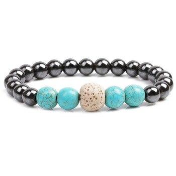 bracelet bleu turquoise homme
