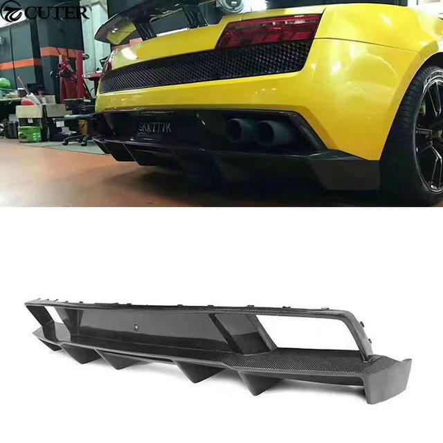 LP550 LP560 LP570 Carbon Fiber Car Body Kits Rear Diffuser Rear Lip For Lamborghini  Gallardo LP550