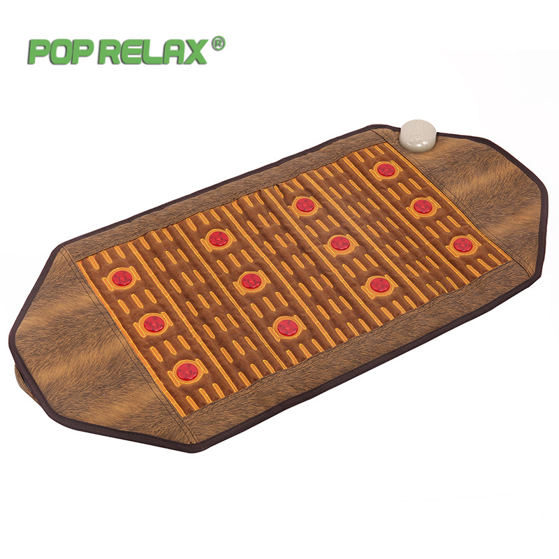 Pop Relax Korea Health Mattress Photon Heating Therapy Pad Germanium Mainfan Ceramic Pain Relief Electric Jade Stone Massage Mat pop relax led photon tourmaline massage mat far infrared light therapy stone pad electric health care heating germanium mattress