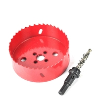 BORUiT Drilling Hole Saw Cutting Kit Opener Drill Bit Cutter Holesaw For Aluminum Iron Stainless Steel