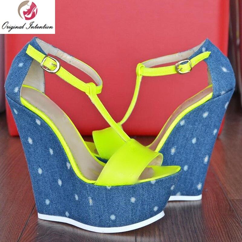 Original Intention New Fashion Women Sandals Summer Shoes Platform Open Toe Wedges Sandals Buckle Strap Nice