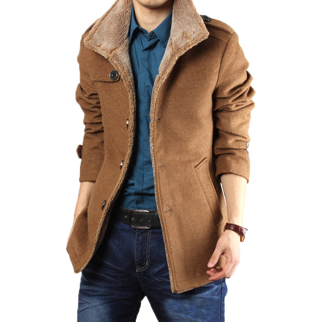 Free shipping 2017 new men's Winter Jacket Mens fur coat color coat male leisure self-cultivation size M-3XL 90 XYQ