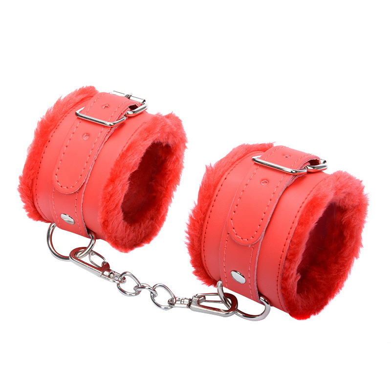 Roleplay Tool Adjustable PU Leather Plush Handcuff Ankle Cuff Restraints Bondage Sex Toys Restraints Bondage Exotic Accessories