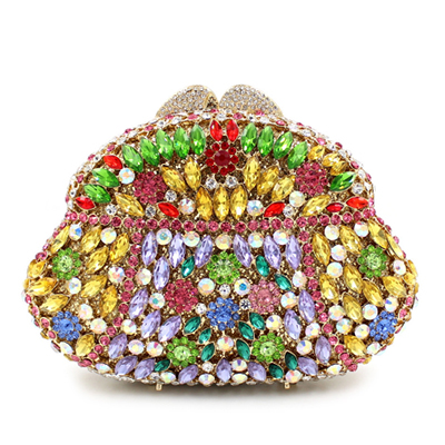 women colorful handbags crystal Beaded day clutches ladies chain evening bags messenger bags clutch pouch purse wallets for lady day clutches elegant lady messenger bags for women clutch evening bag casual party purse beaded wedding handbag zh b0321