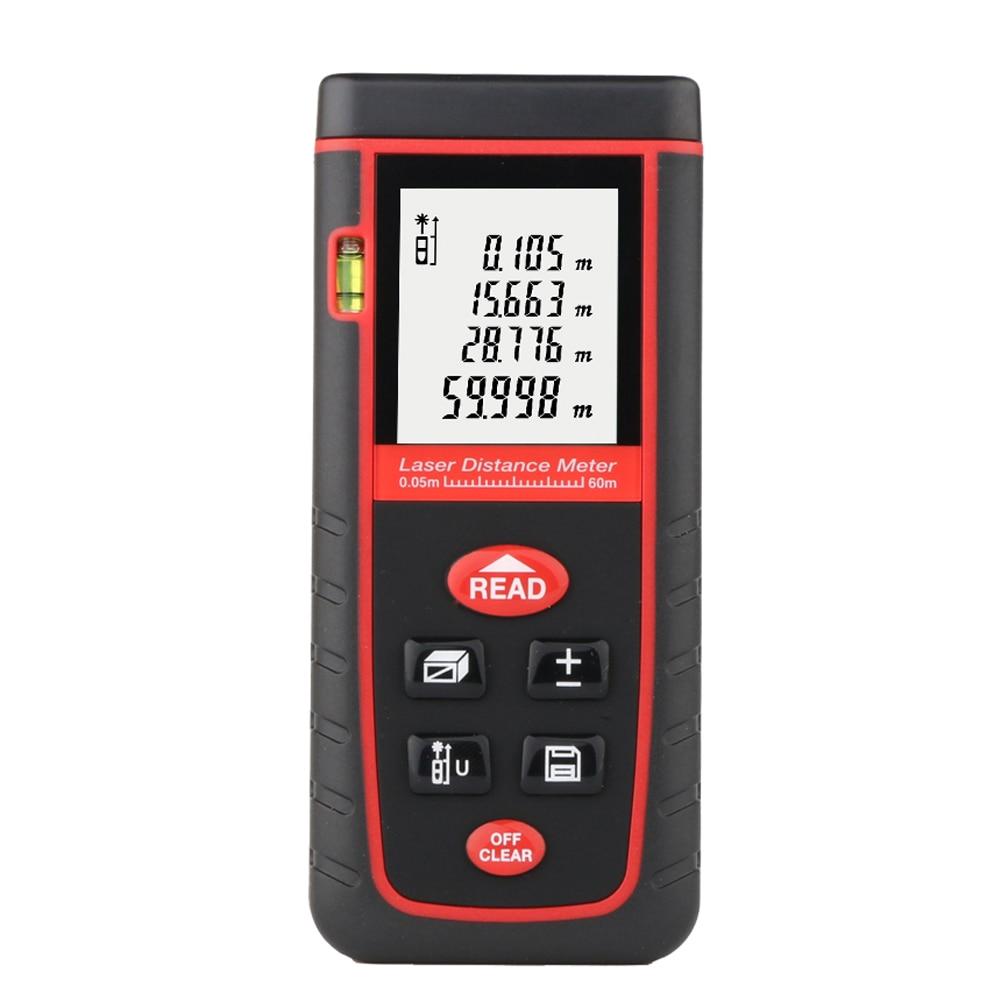 60M LCD Digital laser rangefinder Handheld Digital Laser Distance Meter Range Finder Measure Tool Diastimeter with backlight  цены