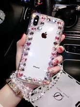 XINGDUO Bling Crystal Diamond Rhinestone Transparent Phone Case For Huawei P smart 2019/Y9 2019 2018/NOVA 3 3i/ enjoy 7 8 9 plus
