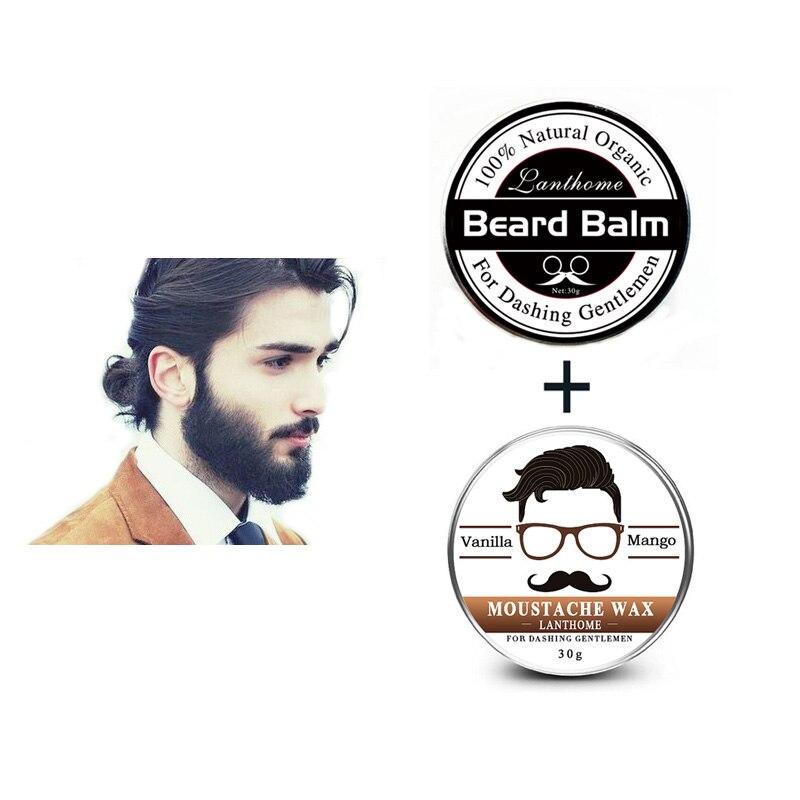 Lanthome бальзам для бороды для лихих Господа борода крем увлажняющий уход масло для бороды усы воска для сглаживания Премиум уход