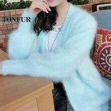 Натуральная норка кашемир толстое теплое пальто настоящий натуральный настоящий свитер кашемир с норкой Роскошная Фабрика OEM, скидка DFP892