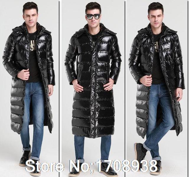 9a793891119 New Men s Winter Knee Long Down Hooded Long Puffer Outerwear Jacket Coat