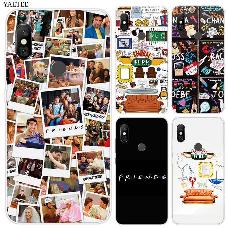 Fashion Soft Silicone Phone Case For Xiaomi Xiomi redmi  4A 4 Pro 3S S2 6A Note 6 Pro 5 Plus 5A 4X 4 Cover Friends Together