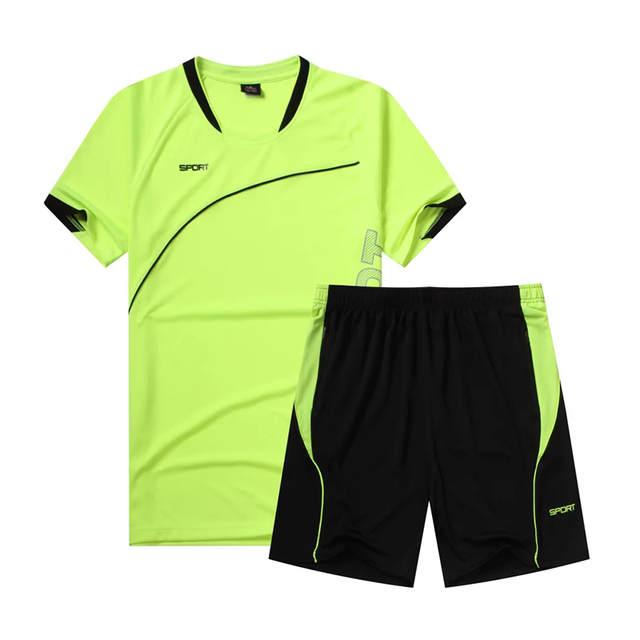 e7336859a Mens Soccer Jersey Set Boys Short Sleeve Training Football Kit 2017 Football  Shirts Form 2017 Set