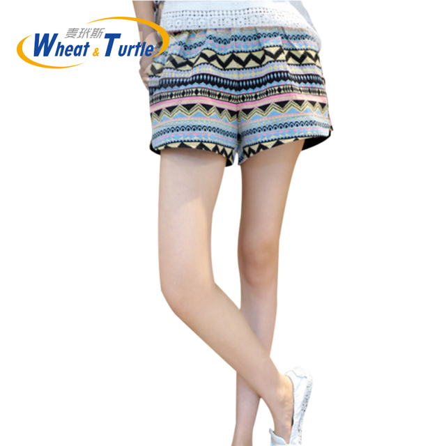 2016 Summer Hot Sale High Quality Comfortable Adjustable Maternity Short Pants Colorful Appliques Hot Pants For Pregnant Women