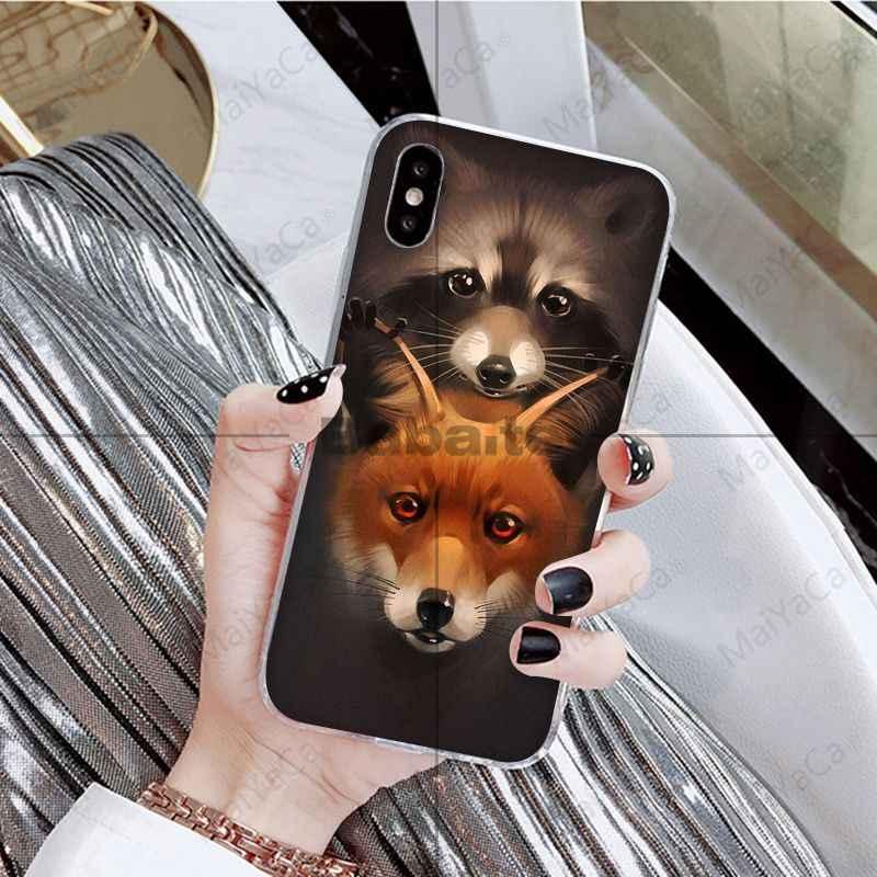 Babaite Hewan Rakun Rubah Lucu Berwarna-warni Aksesoris Case untuk iPhone X XS Max 6 6 S 7 7 Plus 8 8 PLUS 5 5 S XR