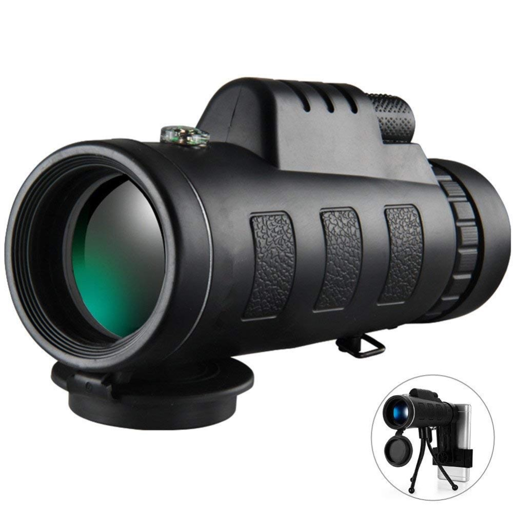 <font><b>40X60</b></font> HD Power Night Vision Zoom <font><b>Monocular</b></font> Telescope with Waterproof <font><b>BAK4</b></font> Prism Lens for iPhone and most of Android phones image