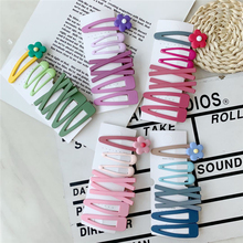 WPCZQVZA 7PCS/Set New Kawaii Flower Hair Pins Fashion Candy Color Clips For Girls Solid Water Drop Party Headwear