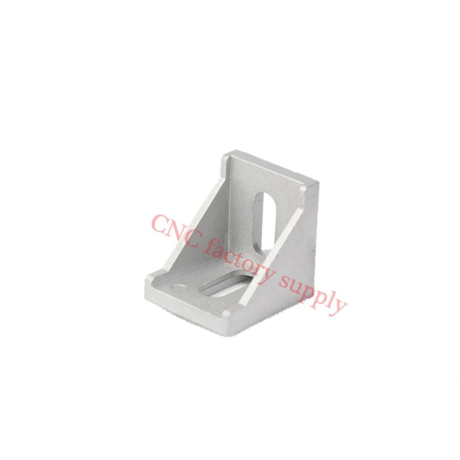 HOTSale 20pcs 2020 corner fitting angle aluminum 20 x 20 L connector bracket fastener match use 2020 industrial aluminum profile hotsale 100