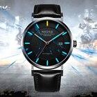 Tritium watch Fashion DW styles Men Watch 9015 Automatic Mechanical Wristwatch Sapphire italy genuine strap 50M waterproof