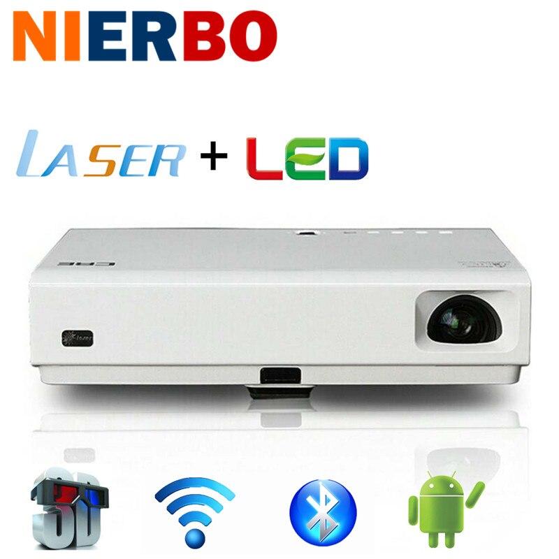 c1aa70d866604 Nierbo laser projetor full hd 1080 p de vídeo negócio da escola de cinema  em casa projetor 3d android levou ao ar livre zoom auto correção usb em  Projetores ...