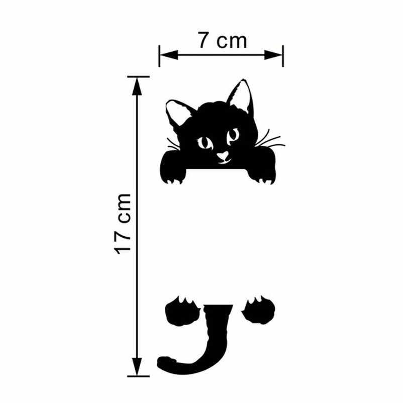 Autocollant interrupteur lumineux chat Kitty | Étiquette de décoration, nœud de porte, autocollant de lumière, dessin animé, pour enfants, pépinière, 2016 offre spéciale, 2017