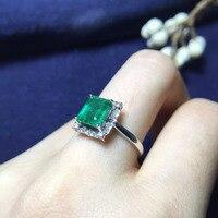 Fine Jewelry Идеальный 18 К золото идеальная высшего сорта зеленый Изумрудное кольцо 1.8ct для женщин яйцо surface6.3 * 7.3 мм обручальное кольцо