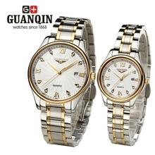 Brand GUNQIN 2pcs set lovers Couple Watches Men s watches font b women b font Quartz