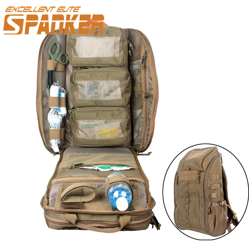 1050D Nylon MOLLE Camouflage First Aid Backpack Emergency Medical Assault Backpack Large Capacity Survival Combat Rucksack