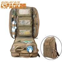 Spanke 1050D التكتيكية الاعتداء رخوة حقيبة الطوارئ الطبية الإسعافات الأولية حقيبة قدرة كبيرة بقاء القتال الظهر