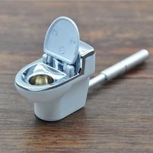 Toilet Shape Metal Tobacco Pipes Portable Smoking P