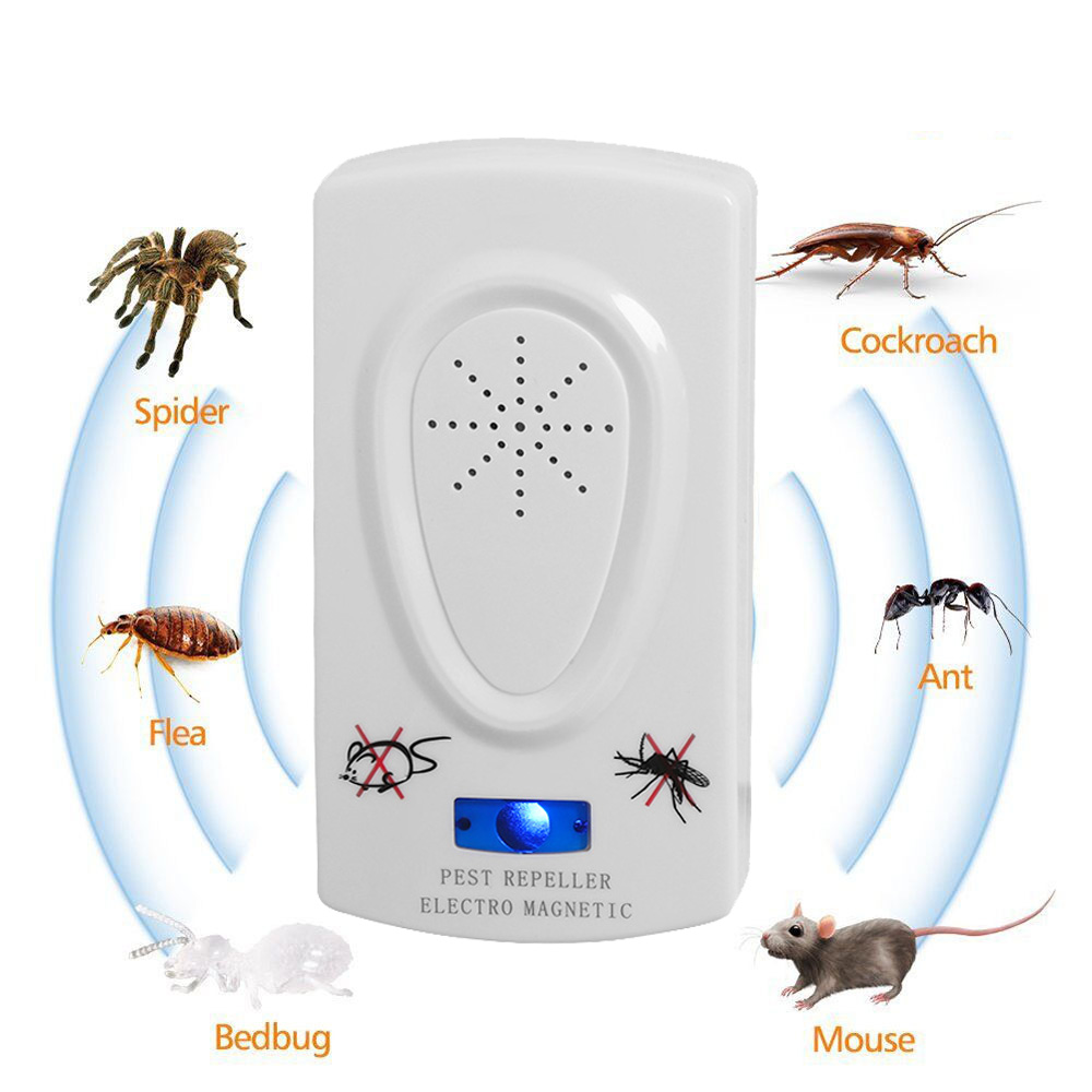1pc Ultrasound Mouse Cockroach Repeller Device Insect Rats Spiders Mosquito Killer Pest Control Household Pest Rejecter