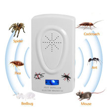 1pc Ultrasound Mouse Cockroach Repeller Device Insect Rats Spiders Mosquito Killer Pest Control Household Pest Rejecter(China)