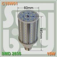 Frete grátis lâmpada LED milho lâmpada 15 W E27 de alumínio de alta qualidade altas lumens SMD2835 15 w de milho de 360 graus luz