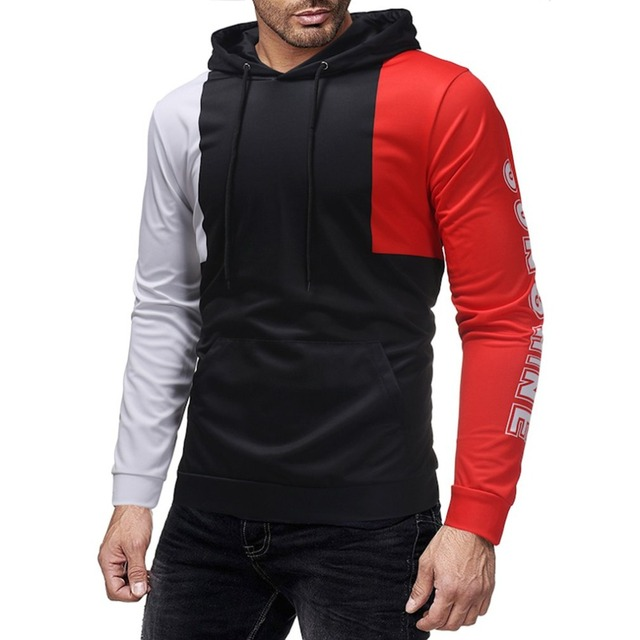 9160a31c0 Casual Men Sportswear hoodie Fashion patchwork Mens hoodies Pullover Hip  Hop Mens tracksuit Sweatshirts sweats Male coat jacket