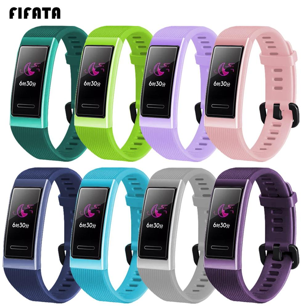 FIFATA Colorful Soft Replacement Silicone Sport Strap For Huawei Band 3 Smart Bracelet For Huawei Band 3 Pro Watch Accessories