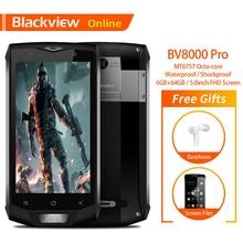 Blackview BV8000 פרו 5.0 אינץ IP68 עמיד למים מחוספס נייד 6G + 64G אוקטה ליבות FHD + IPS מסך אנדרואיד 8.0 NFC GPS Smartphone