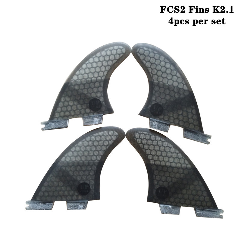 Surf Fins FCSII K2.1 Quilhas Honeycomb Fins Fibreglass Quad Fin Set Surf FCS2 Fins Surfing 4 Color