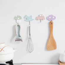 Cute Cartoon Strong Suction Cup Sucker Wall Hooks Hanger For Bathroom Corner Towel Hook Kitchen Pot Shovel Hook Storage Tools стоимость