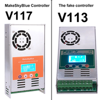 MakeSkyBlue Newest V118 MPPT 60A Solar Charge Controller Power Regulator for 12V 24V 36V 48V Voltage Acid Gel Lithium Battery
