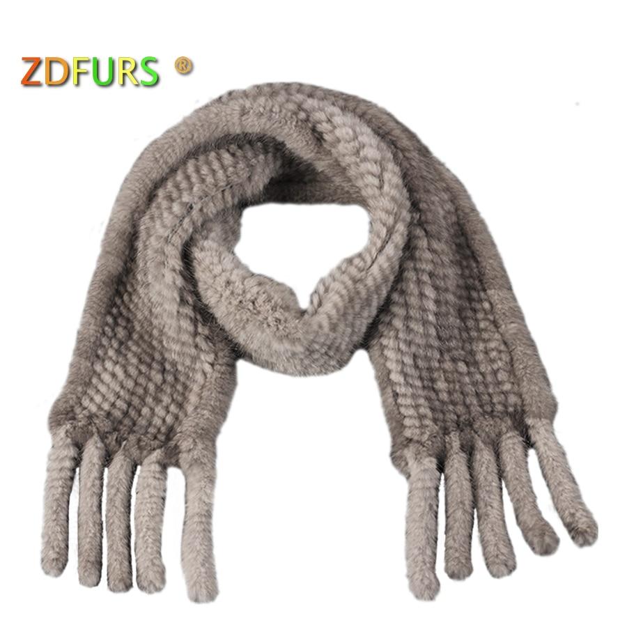ZDFURS * podzimní a zimní norek kožešinový šátek ultra dlouhý střapec pletený norek kožešinový šála tlumič šátek šátek kožich šátek norek