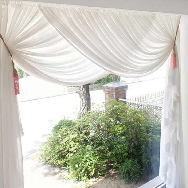 Cheap Soft Pure White Tulle Curtains for Living Room Sheer Curtain for Bedroom Window Treatments Sheer Kitchen fabric Yarns ...