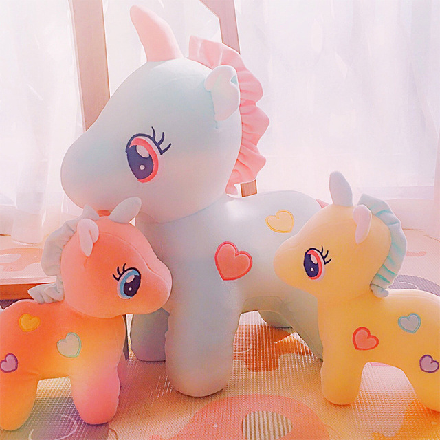 30 50cm 3 Colors Unicorn Plush Toys Little Horse Pegasus Doll Angel
