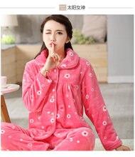 d1dbfb51ab New Winter Pajama Women Flannel Animal Pajama Sets Female Sleepwear Warm  Plus Size Coral Fleece Christmas gift 2XL