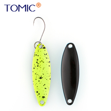 Tomic 3g 5g freshwater casting fishing lures lake stream area trout spoons metal hard bait spinner UV color blinkers
