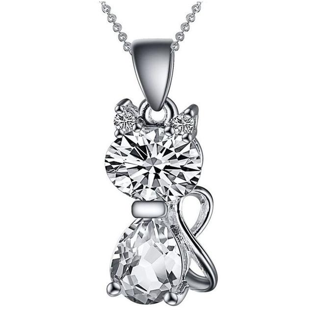 Unique Silver Plated Cat Necklaces