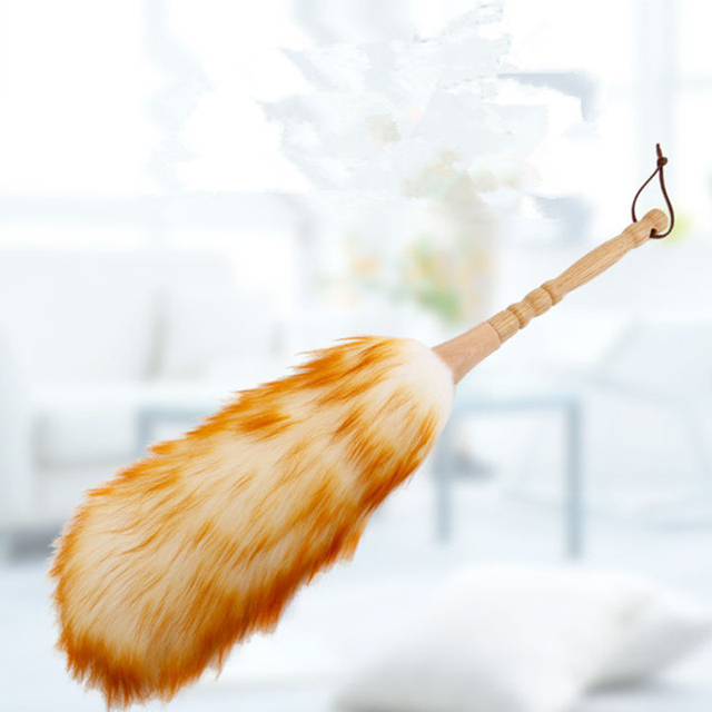 Furniture duster Electrostatic Household Lintfree Feather Duster Car Staticfree Wool Duster Furniture Dusting Cleaning Home Kitchen Clean Tools Martha Stewart Household Lint Free Feather Duster Car Static Free Wool Duster