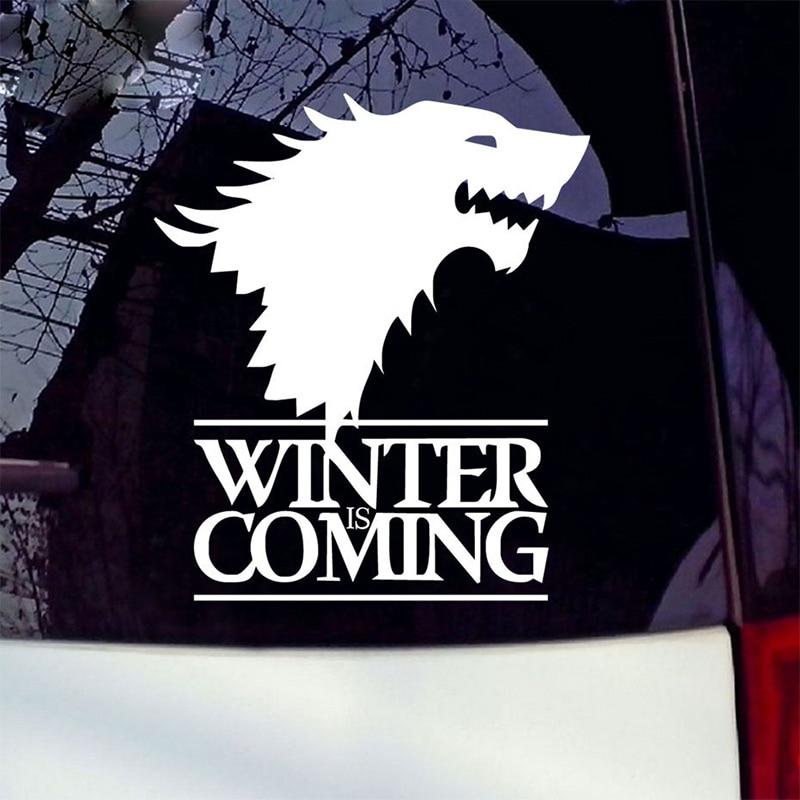 1 stk SEEYULE Vinteren kommer Wolf Game of Thrones Bilklistermærke - Udvendigt biltilbehør - Foto 4