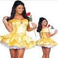 2017 latest Plus Size High Quality Adult Snow White Princess Belle Halloween Costume With Underskirt Sexy Costumes for Women