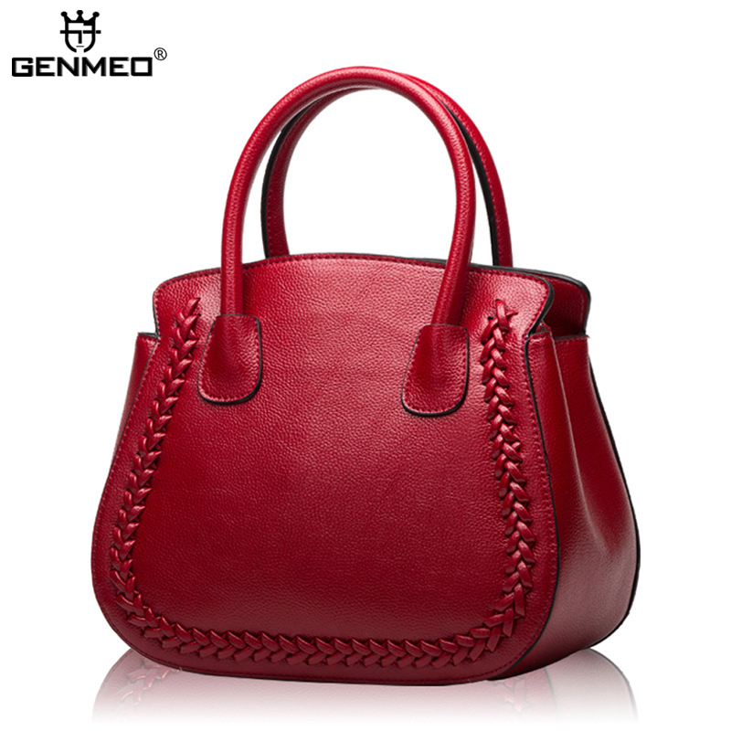 New Stylish Famous Brands Design Fashion Women's Handbags Women Genuine Leather Messenger Bags Ladies Handbag Bag Bolsa Feminina 2018 new designer retro genuine leather bags handbags women famous brands ladies office work bag messenger clutch bolsa feminina