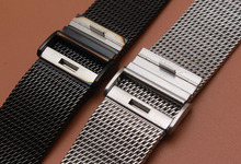 18mm 20mm 21mm 22mm 24mm silver Black Mesh High Quality Watchband Gear s2 s3 watch