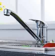 Бесплатная доставка Латунь кран холодной и горячей воды бассейна на одно отверстие горячей и холодной Длинным носиком ванной кран Кухонный кран